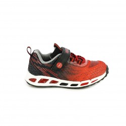 zapatillas deporte QUETS! rojas y negras con luces - Querol online