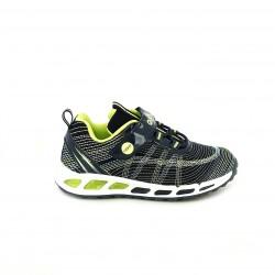 zapatillas deporte QUETS! azul marino y verdes con luces - Querol online