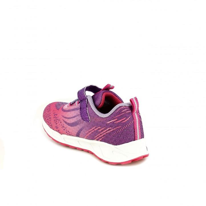 zapatillas deporte QUETS! rosas y lilas con luces - Querol online
