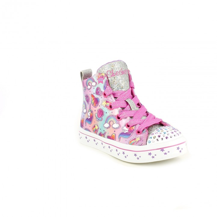 zapatillas lona SKECHERS unicornios con luces - Querol online