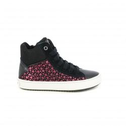 zapatillas lona GEOX con corazones rosas - Querol online