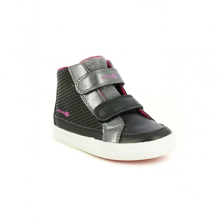 zapatillas lona GEOX negras con estrellas - Querol online