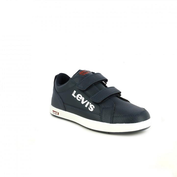 zapatos LEVIS azul marino con suela blanca - Querol online