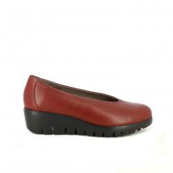 sabates de falca WONDERS vermelles de pell - Querol online
