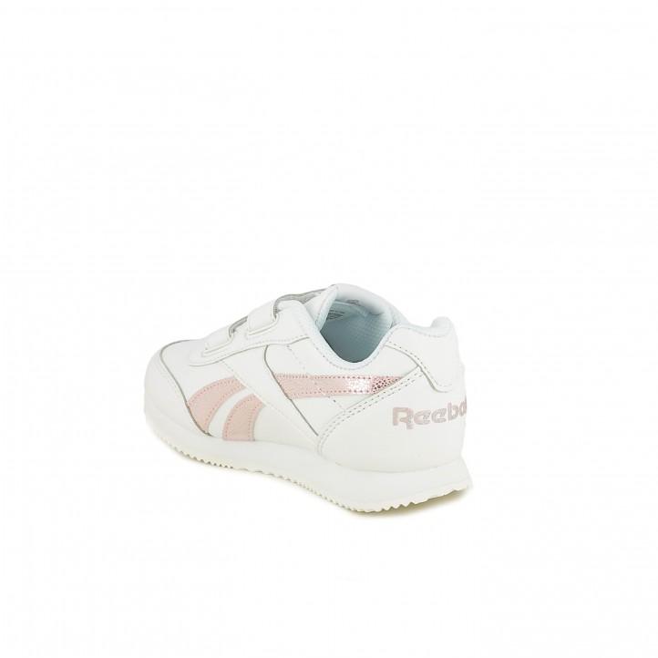 zapatillas deporte REEBOK blancas con rayas rosas - Querol online