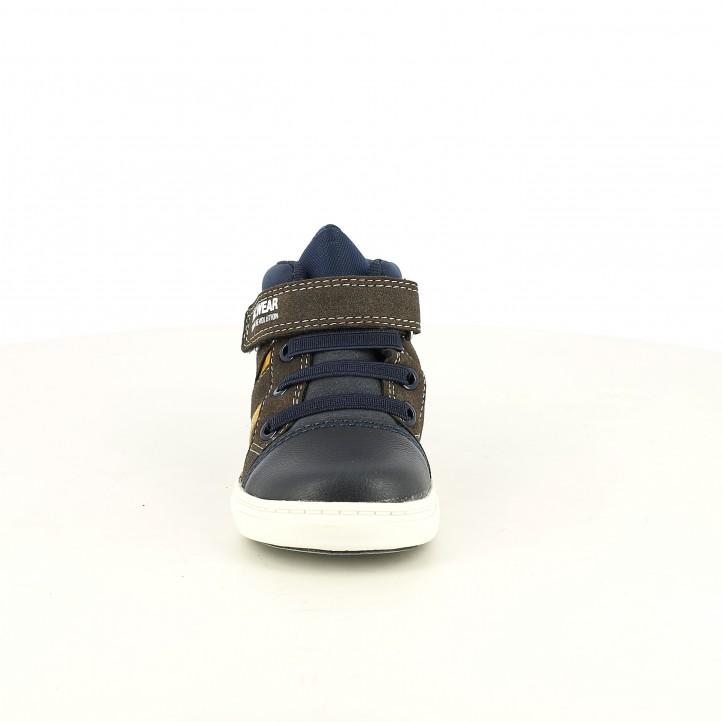 Botas SPROX marrones y azules - Querol online