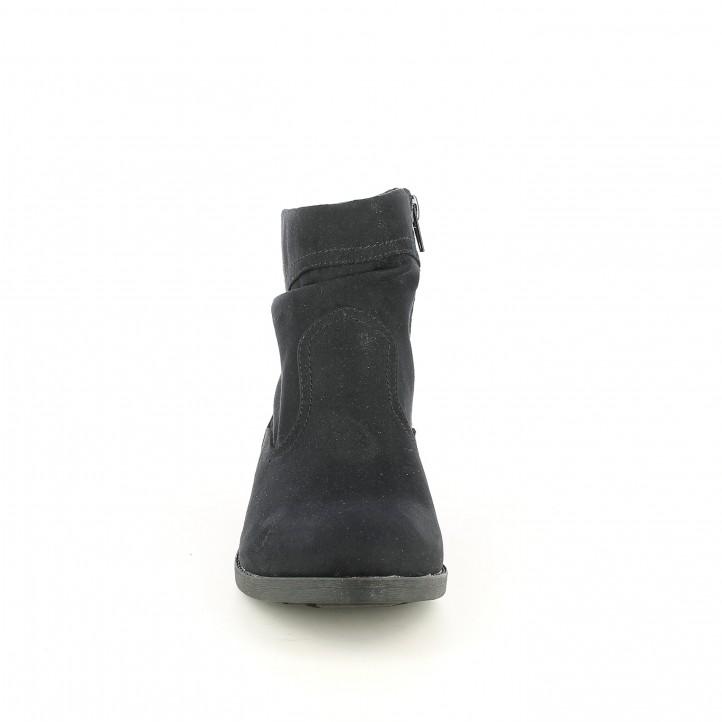 botins de taló SPROX negres tèxtils - Querol online