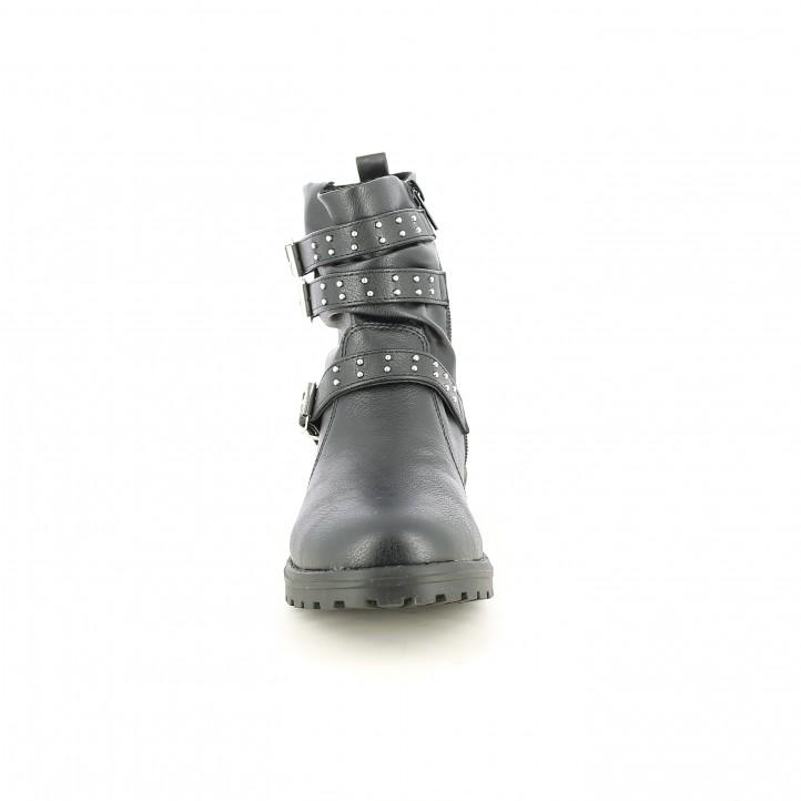 botines SPROX negros con tiras y tachuelas - Querol online