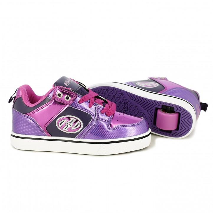 zapatillas deporte HEELYS lilas con ruedas - Querol online