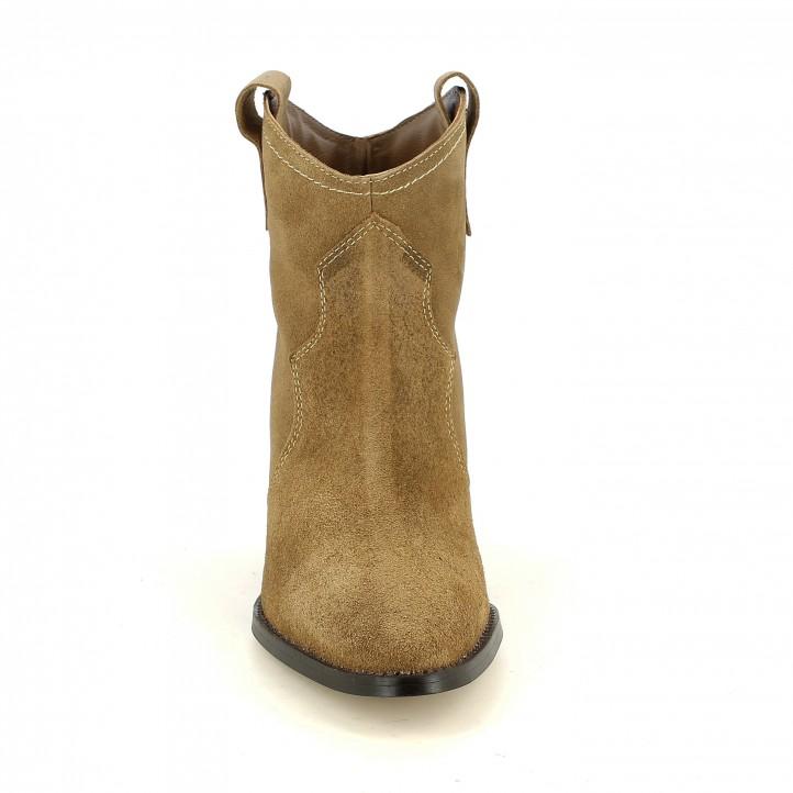 botines tacón REDLOVE marrones de piel cowboy - Querol online