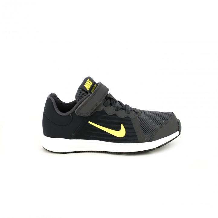 Zapatillas Downshifter Deporte Grises Nike Querolets Y Amarillas 8 4F4w6r