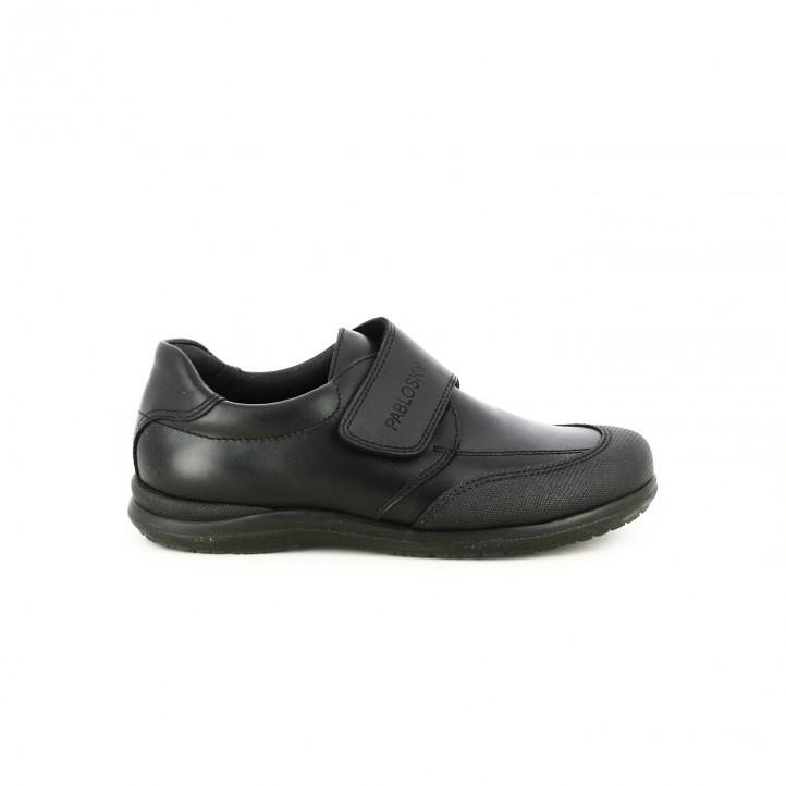 zapatos PABLOSKY negros de piel con velcro - Querol online
