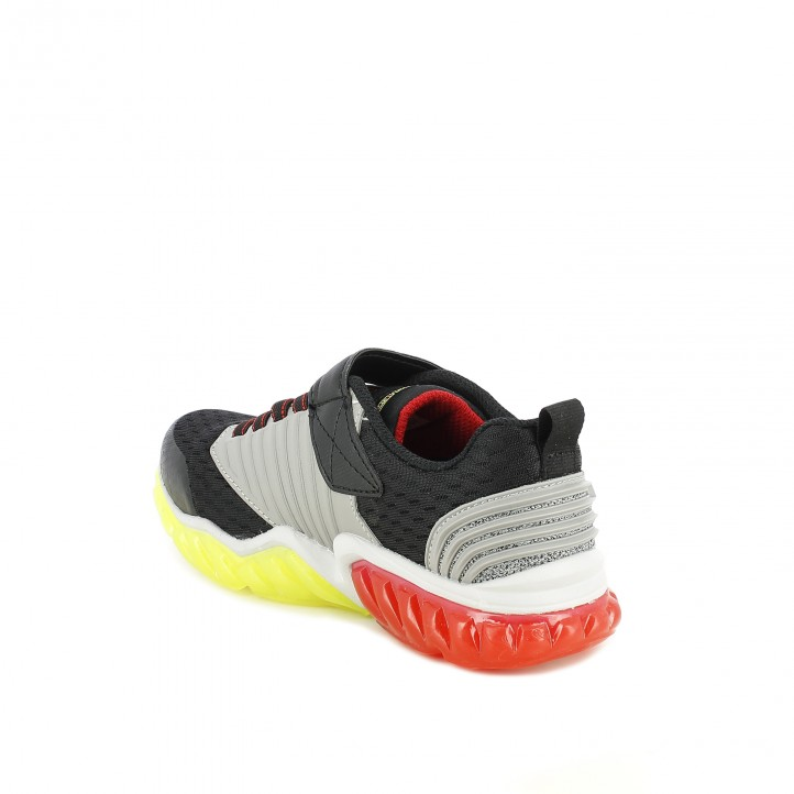 zapatillas deporte SKECHERS con luces verdes y rojas - Querol online