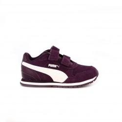 zapatillas deporte PUMA lilas y blancas de piel - Querol online