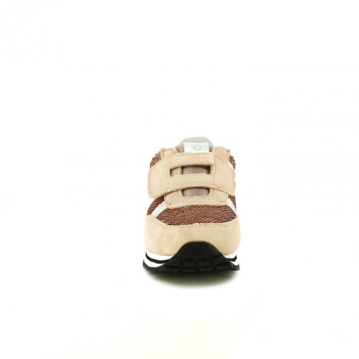 zapatillas deporte VICTORIA rosas con lentejuelas - Querol online
