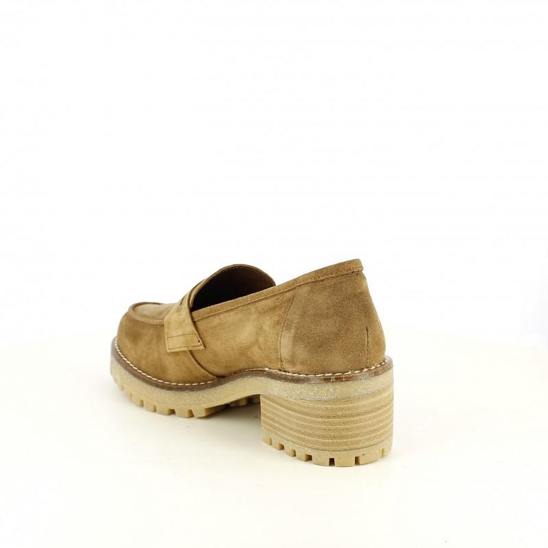 f0bcd70070c mocasines piel tacón online zapatos de marrones Querol REDLOVE yYb67gf