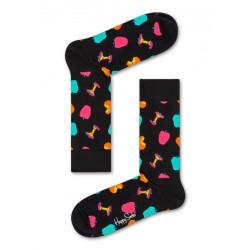 complementos HAPPY SOCKS calcetines negros con manzanas - Querol online