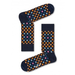 complementos HAPPY SOCKS calcetines largos azules con cruces - Querol online