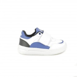 zapatillas deporte Mustang blancas y azules con luces led - Querol online