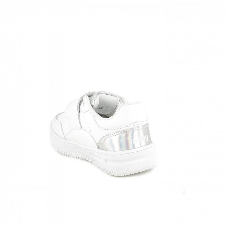 zapatillas deporte Mustang blancas con luces led - Querol online
