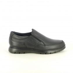 sabates sport CALLAGHAN mocassins negres de pell amb elàstics - Querol online