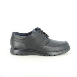 sabates sport CALLAGHAN negres de pell llisos i amb estampat - Querol online