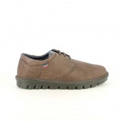 sabates sport CALLAGHAN marrons de pell sola negra - Querol online