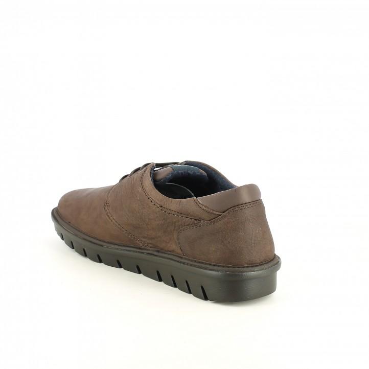 zapatos sport CALLAGHAN marrones de piel suela negra - Querol online