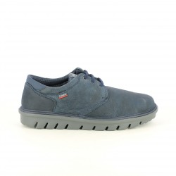 sabates sport CALLAGHAN blaves de pell sola negra - Querol online