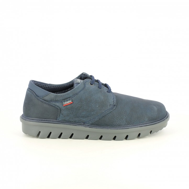 zapatos sport CALLAGHAN azules de piel suela negra - Querol online