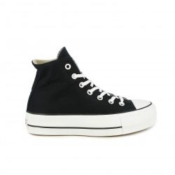 zapatillas lona CONVERSE negras de bota con plataforma - Querol online