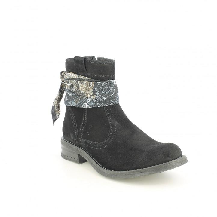 botins de taló REDLOVE negres de serratge amb mocador - Querol online