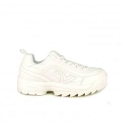 zapatillas deportivas VICTORIA blancas con plataforma dentada - Querol online