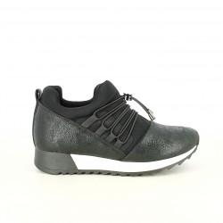 zapatillas deportivas FUNHOUSE negras con elásticos - Querol online