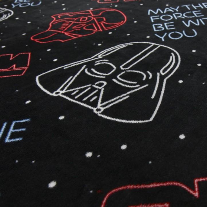 complementos ARTESANIA CERDA manta negra star wars - Querol online