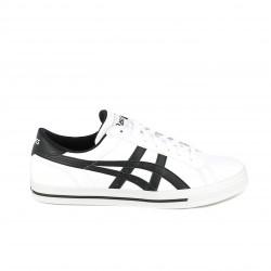 Zapatillas deportivas ASICS blancas con rayas negras