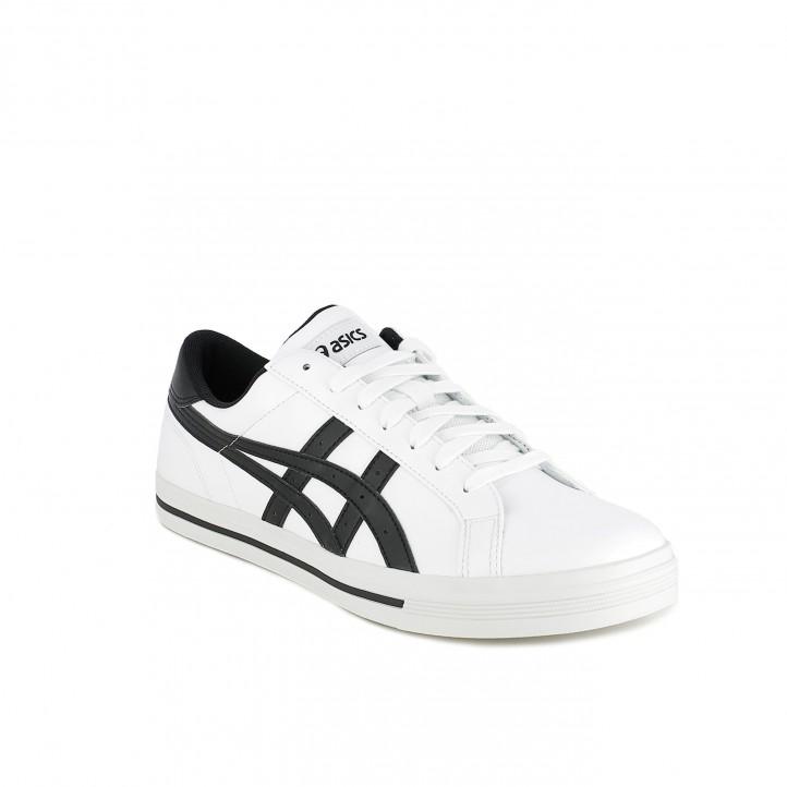 zapatillas deportivas ASICS blancas con rayas negras - Querol online