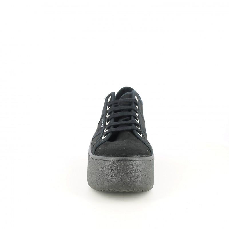 Victoria Cordones Querol Y Con Plataforma Zapatillas Negras Lona qvU8PP