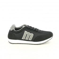 zapatillas deportivas Mustang negras y grises - Querol online