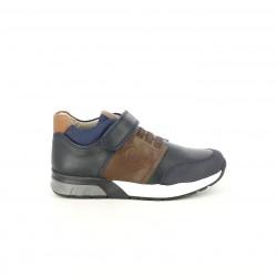 sabates GARVALIN blaves i marrons amb gomes - Querol online