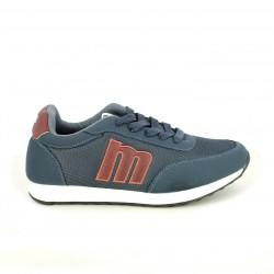 zapatillas deportivas Mustang azules y burdeos - Querol online