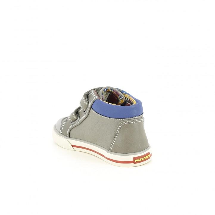 Botas PABLOSKY grises con velcros - Querol online