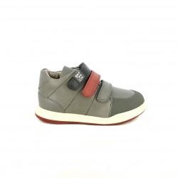 sabates GARVALIN grises i vermelles de pell - Querol online