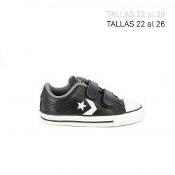 Zapatillas lona CONVERSE star player negras y blancas