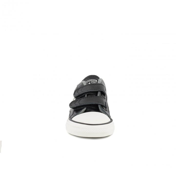 zapatillas lona CONVERSE star player negras y blancas - Querol online