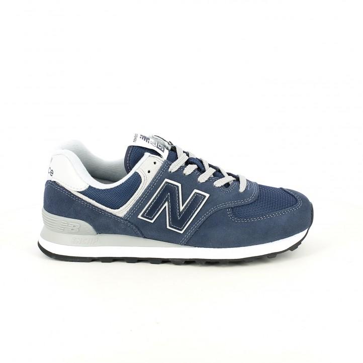 7e7b36a1ad zapatillas deportivas NEW BALANCE 574 azul marino - Querol online ...