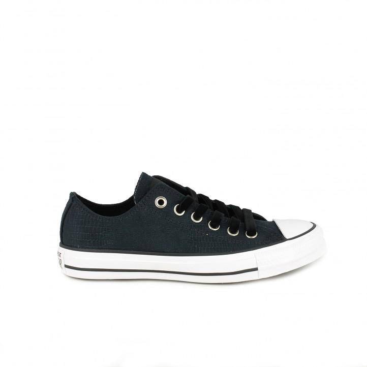 zapatillas lona CONVERSE all star negras con cordones de terciopelo - Querol online