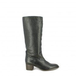 37cb89205b84d botas tacón REDLOVE botas altas de piel negras clàsicas - Querol online