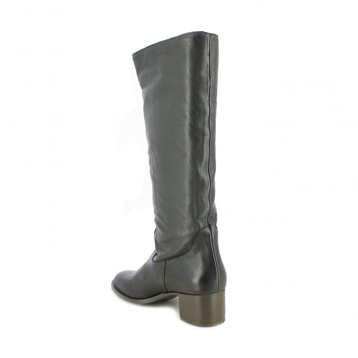 botas tacón REDLOVE botas altas de piel negras clàsicas - Querol online