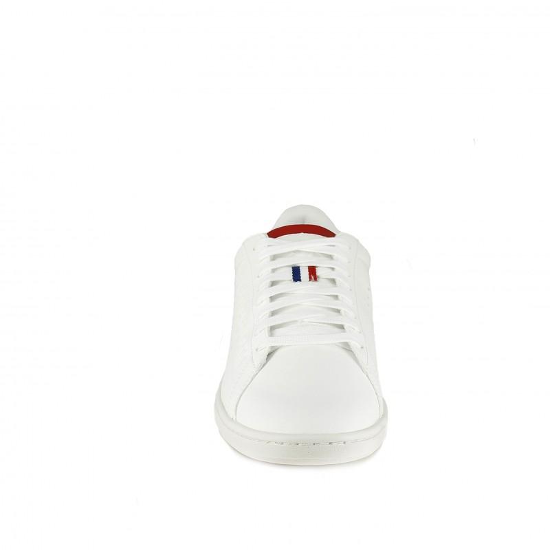 331a93b4b1 ... zapatillas deportivas LE COQ SPORTIF blancas de cordones y detalles  azules y rojos - Querol online ...